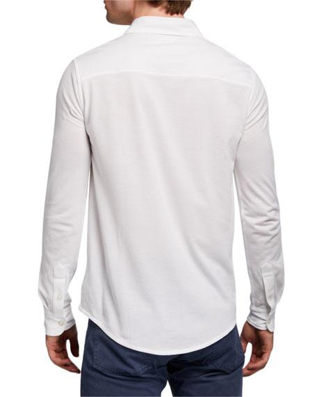 Ralph Lauren Purple Label Men's Washed Cotton Pique Sport Shirt