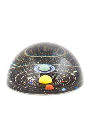 Kikkerland Men's Glass Planetary Paperweight