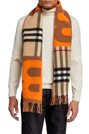 Burberry Men's TB Diamonto Giant Check Scarf