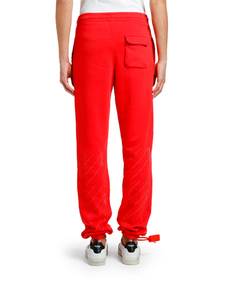 Off-White Men's Unfinished Slim Sweatpants