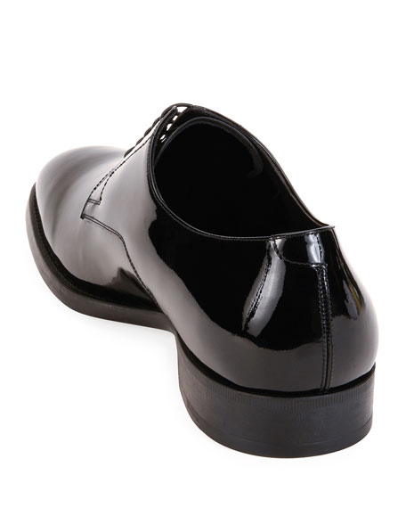 Image 3 of 3: Giorgio Armani Men's Patent Leather Derby Shoes