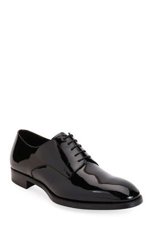Giorgio Armani Men's Patent Leather Derby Shoes