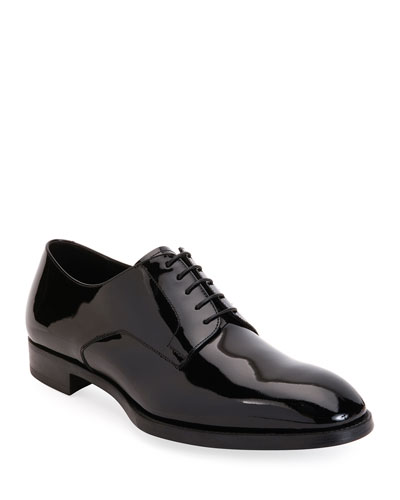Men's Patent Leather Derby Shoes