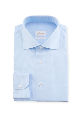 Brioni Men's Graph-Check Sport Shirt