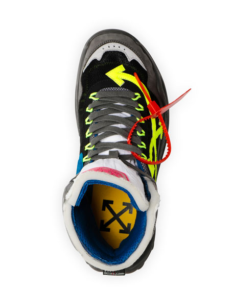 Off-White Men's Odsy Arrow High-Top Sneakers