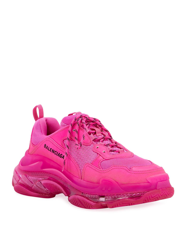 Triple S Neon Clear-Sole Sneakers