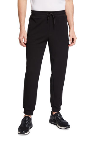 Emporio Armani Men's Hookup Solid Jersey Jogger Pants