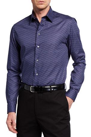 Emporio Armani Men's Triangle-Pattern Sport Shirt