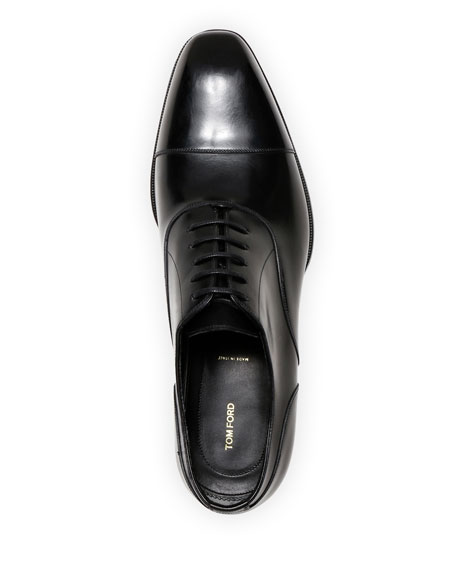 Formal Leather Cap-Toe Oxford Shoes