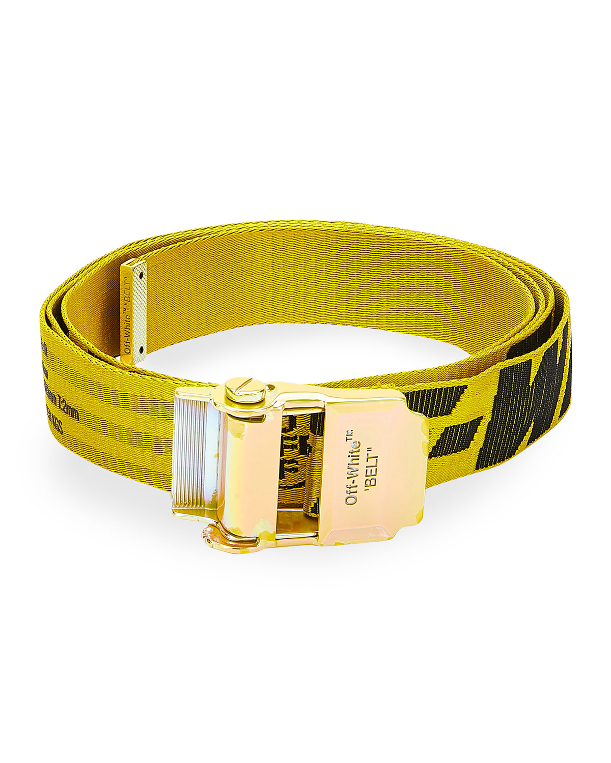 Off-White Men's Industrial Logo Web Belt