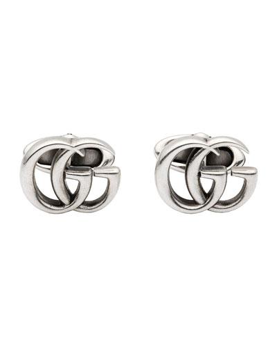 Men's Marmont GG Aged Silver Cufflinks