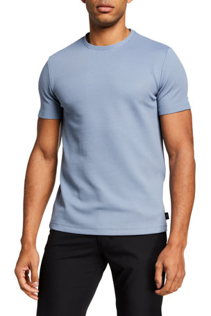Emporio Armani Men's Textured Solid T-Shirt