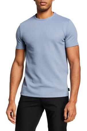 Emporio Armani Men's Textured Solid T-Shirt