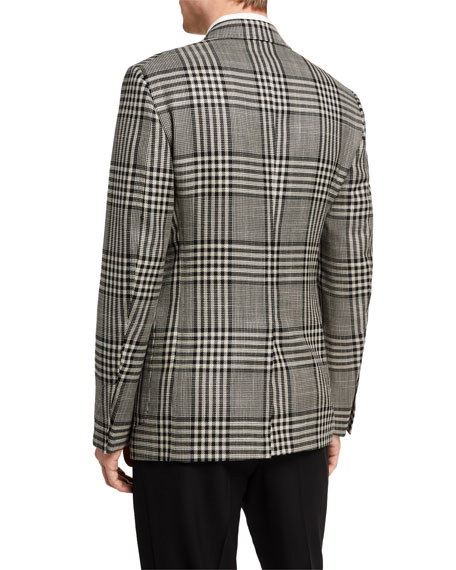 Image 2 of 3: TOM FORD Men's Shelton Check Two-Button Jacket