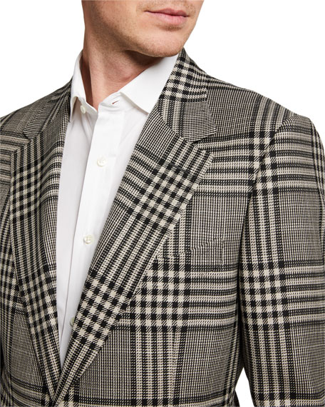 Image 3 of 3: TOM FORD Men's Shelton Check Two-Button Jacket