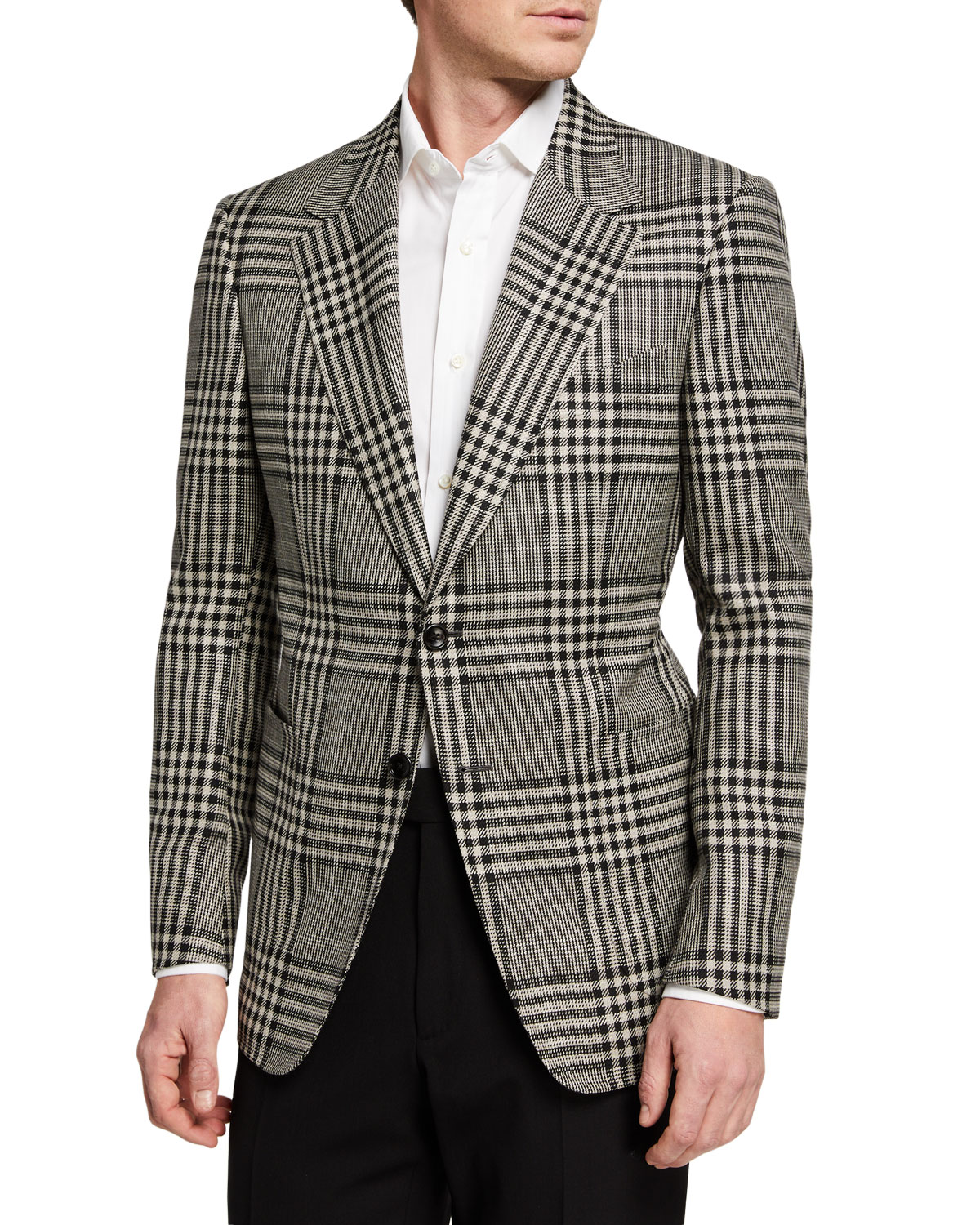TOM FORD Men's Shelton Check Two-Button Jacket