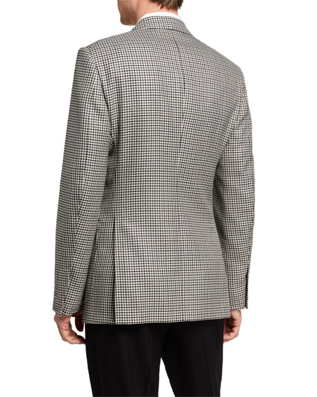 Image 2 of 3: TOM FORD Men's Shelton Tattersall Two-Button Jacket