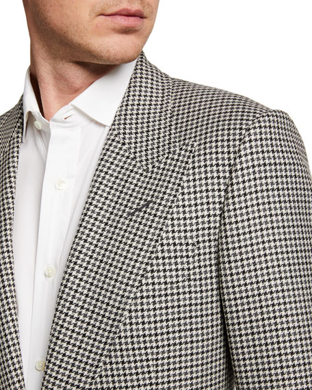 Image 3 of 3: TOM FORD Men's Shelton Tattersall Two-Button Jacket