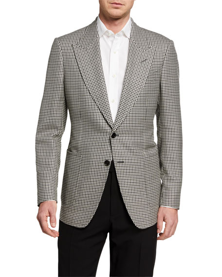 Image 1 of 3: TOM FORD Men's Shelton Tattersall Two-Button Jacket
