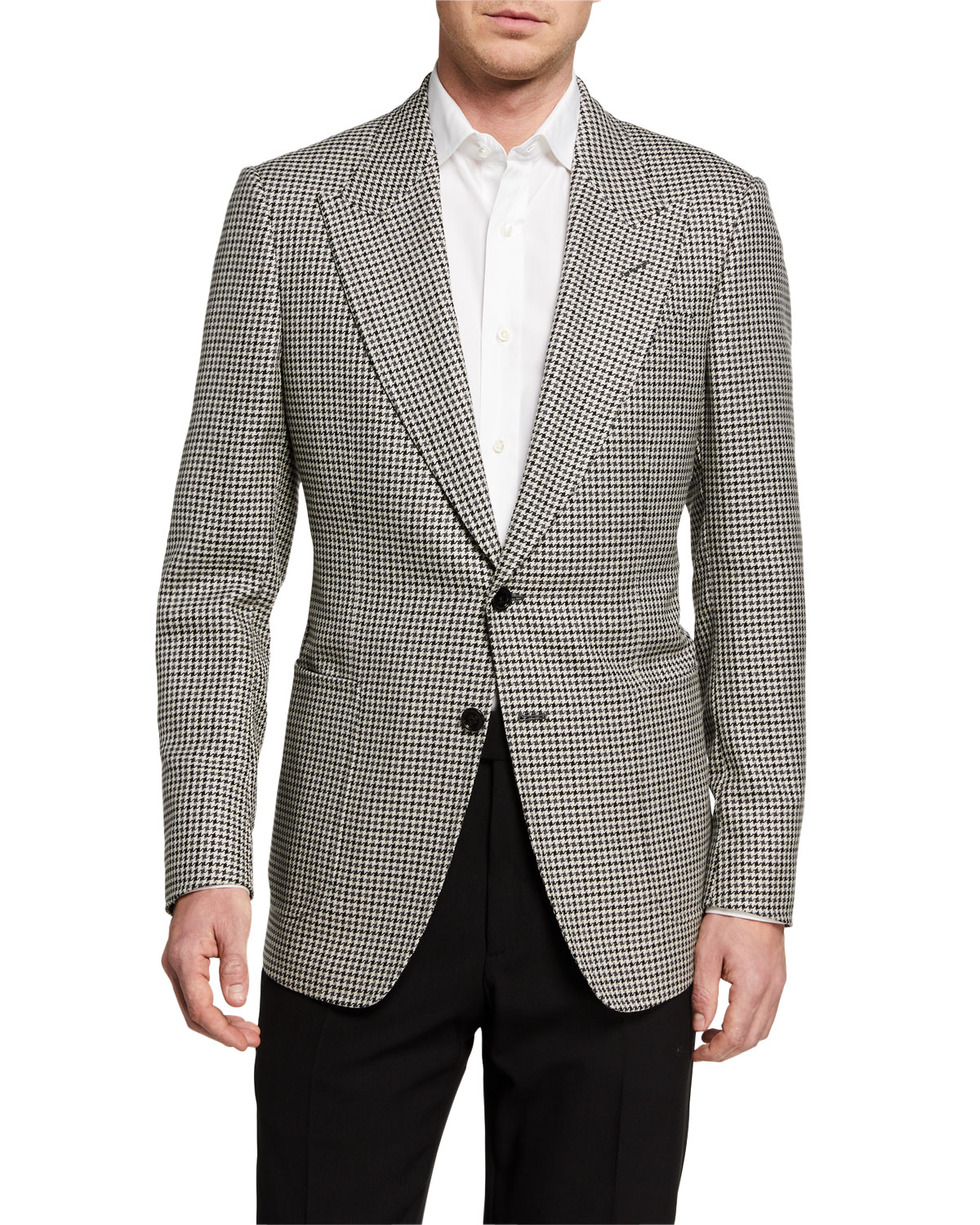 TOM FORD Men's Shelton Tattersall Two-Button Jacket