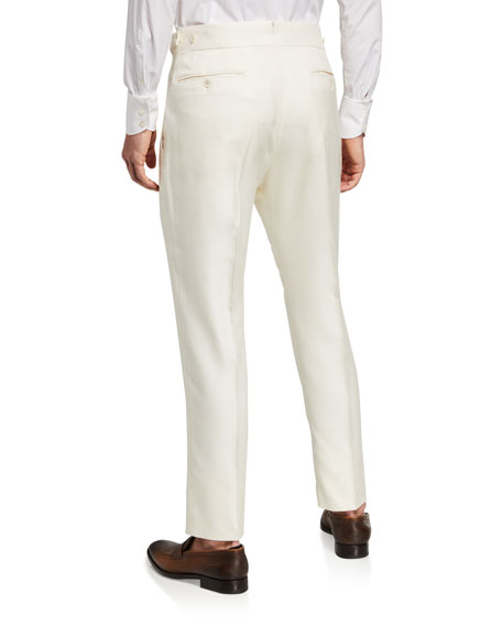 Image 2 of 3: TOM FORD Men's Atticus Silk Trousers