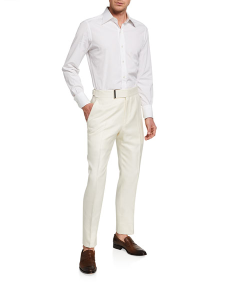 Image 3 of 3: TOM FORD Men's Atticus Silk Trousers