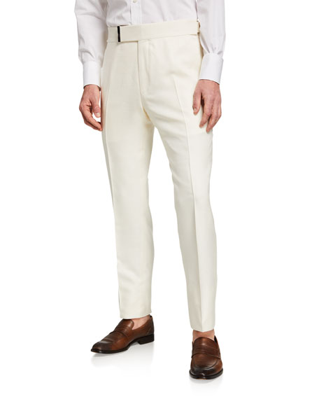 Image 1 of 3: TOM FORD Men's Atticus Silk Trousers