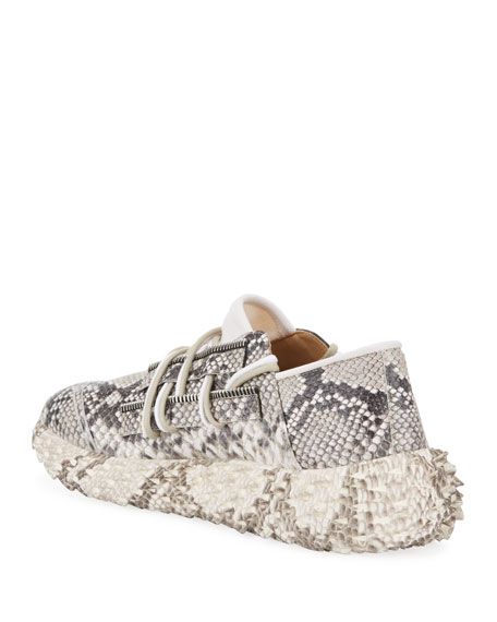 Image 4 of 4: Giuseppe Zanotti Men's Snake Urchin Textured Leather Sneakers