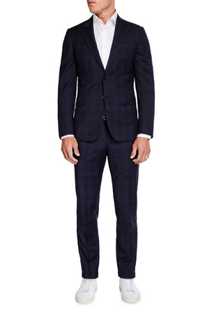 Brioni Men's Tonal Plaid Two-Piece Wool Suit