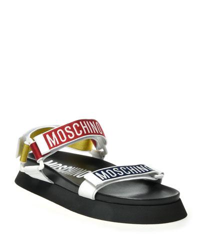 Men's Multicolor Logo Strap Sandals
