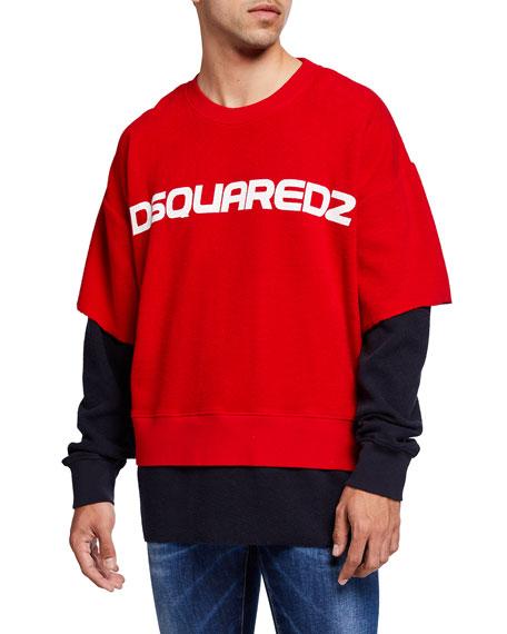 Dsquared2 Men's Double-Sleeve Logo Sweatshirt