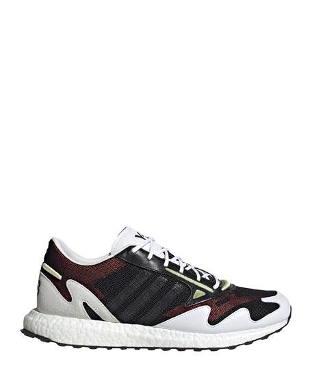 Y-3 Men's Rhisu Dual-Layer Mesh Runner Sneakers