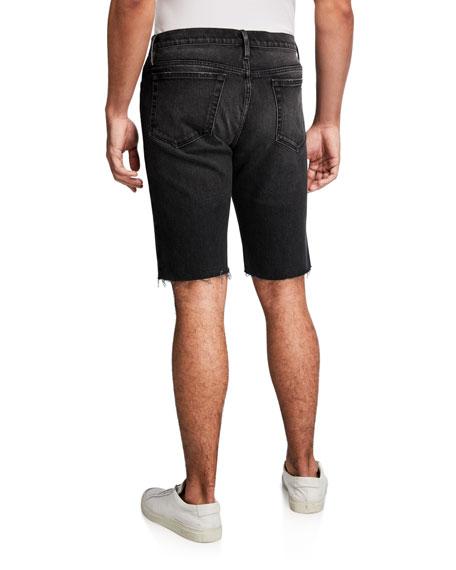 FRAME Men's L'Homme Dark-Wash Cutoff Shorts