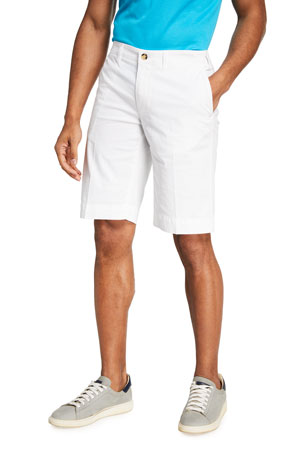 Canali Men's Solid Knee-Length Walking Shorts