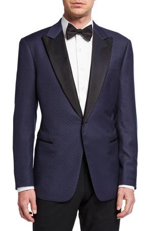 Giorgio Armani Men's Fancy Geo Virgin Wool Tuxedo Jacket