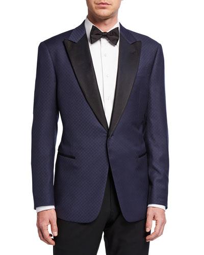 Men's Fancy Geo Virgin Wool Tuxedo Jacket