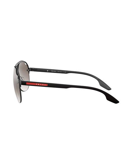 Prada Linea Rossa Men's Mirrored Aviator Sunglasses