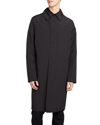 Men's Toby Hidden-Button Topcoat