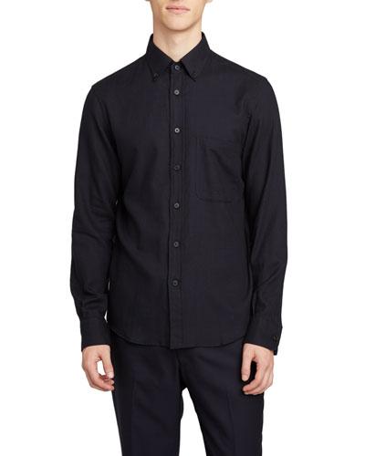 Men's Vance Solid Point-Collar Sport Shirt