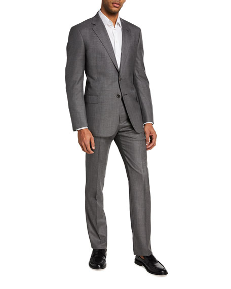 Image 2 of 4: Giorgio Armani Men's Two-Piece Sharkskin Suit