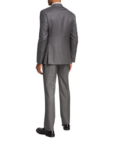 Image 3 of 4: Giorgio Armani Men's Two-Piece Sharkskin Suit