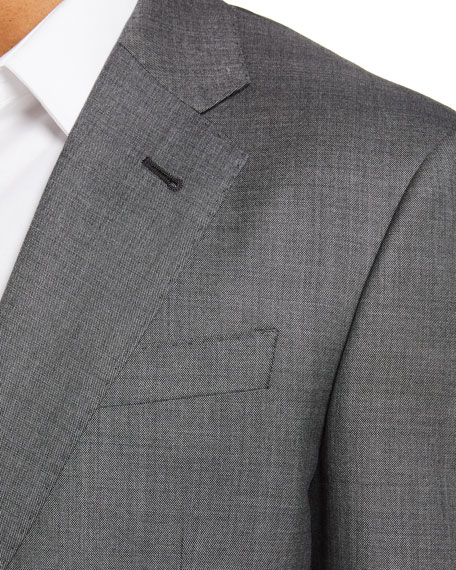 Image 4 of 4: Giorgio Armani Men's Two-Piece Sharkskin Suit