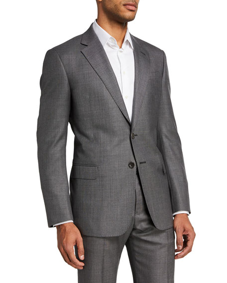 Image 1 of 4: Giorgio Armani Men's Two-Piece Sharkskin Suit