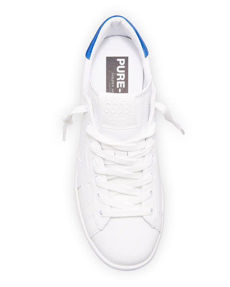 Image 2 of 4: Golden Goose Men's Pure Star Leather Sneakers