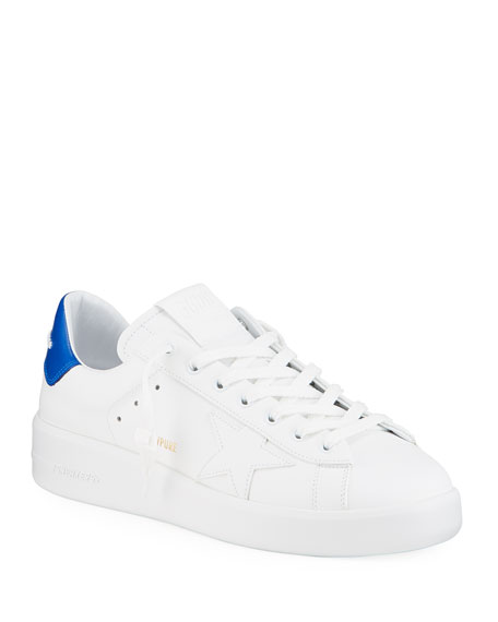 Image 1 of 4: Golden Goose Men's Pure Star Leather Sneakers
