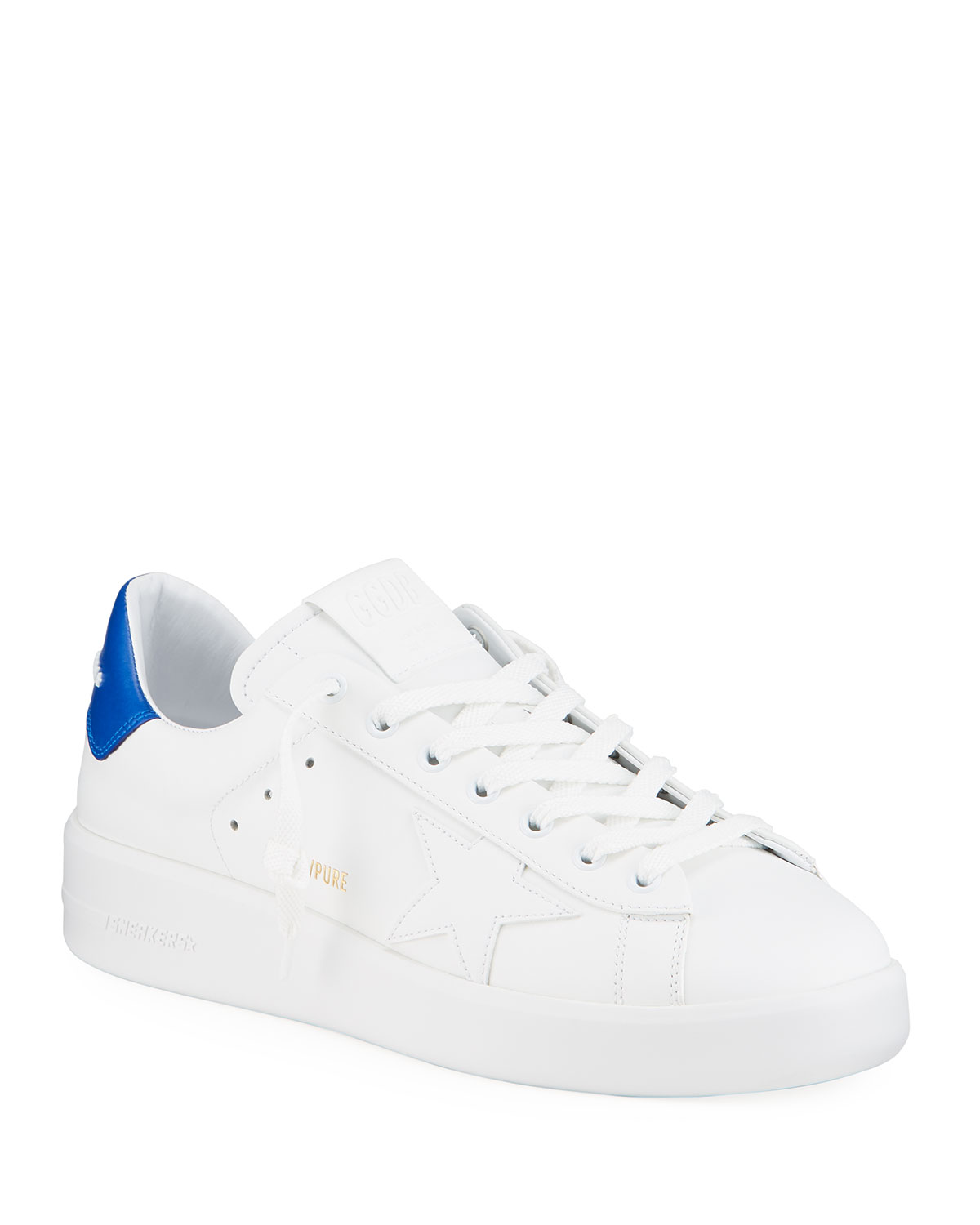 Golden Goose Men's Pure Star Leather Sneakers