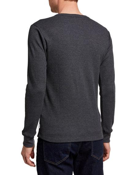 FRAME Men's Waffle Knit Henley T-Shirt
