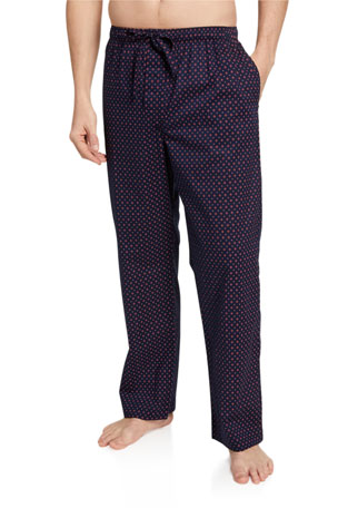 Derek Rose Men's Nelson 72 Patterned Lounge Pants