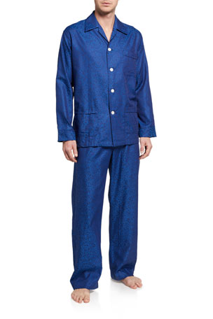 Derek Rose Men's Paris 17 Tonal Floral Pajama Set