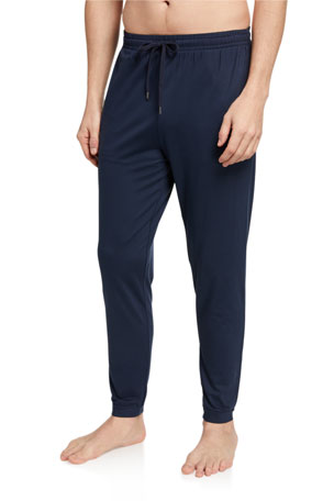 Derek Rose Men's Basel 1 Solid Jersey Cuffed Lounge Pants